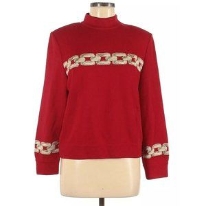 ST. JOHN Collection Red Gold Santana Knit Sweater